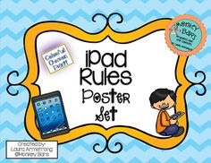 Post this colorful chevron poster set near your technology center.  This is a great way to remind students of appropriate iPad use in the classroom.  Posters included are: 1.  iPad Rules2. Always carry an iPad with two hands!3. Always know where your iPad is.