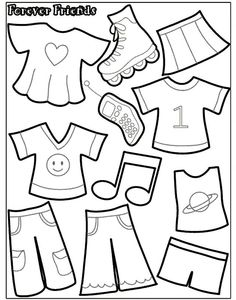 Felt Board or Quiet Book - Paper Doll Template Diy Quiet Books, Baby Quiet Book, Felt Quiet Books, Quiet Book Templates, Quiet Book Patterns, Printable Templates, Paper Doll Template, Doll Patterns Free, Doll Quilt