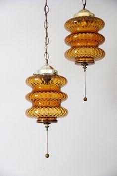 vintage mid century modern hanging swag lights by wretchedshekels, www.etsy.com/shop/wretchedshekels