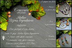 ☽•☾ CONCOURS FACEBOOK Atelier bijoux légendaires: Venez nous y retrouver et y participer ! ☽•☾ : Collier par atelier-bijoux-legendaires
