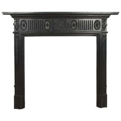 Antique Lat Victorian Cast Iron Fireplace Surround | From a unique collection of antique and modern architectural elements at https://www.1stdibs.com/furniture/building-garden/architectural-elements/