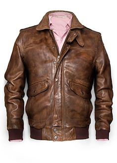 aus leder - Herren H. by Mango Pilot Jacket - for all the Wingmen out there! by Mango Pilot Jacket - for all the Wingmen out there! Leather Flight Jacket, Flight Bomber Jacket, Leather Jackets, Vintage Biker, Vintage Men, Riders Jacket, Jacket Men, Aviator Jackets, Men's Coats And Jackets