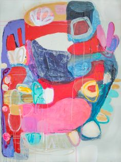 """""""Place In My Heart"""" by Claire Desjardins. 48""""x36"""" - Acrylics on canvas."""