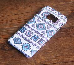 Blue Navajo Tribal iPhone 6s Plus SE Case iPhone 5s Case Galaxy S7 Edge Plus Case 026