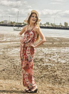 Hibiscus Jumpsuit #metuka.com.au #hibiscus jumpsuit