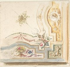 Anonymous, Italian, 19th century   Design for a Ceiling Decoration   The Met