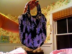Super+Easy+(No+Sew)+Bag+Made+From+Vintage+Scarves+#howto+#tutorial