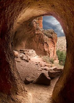 Cave and Kiva at Bandelier National Monument - New Mexico