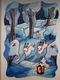 Received from Finland (sinipiika) Christmas card Tag