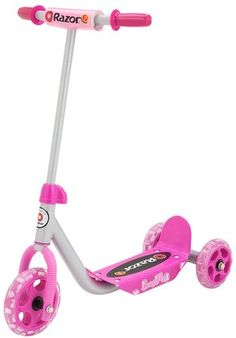 Kiddie Kick Scooter, Pink Does your little one envy the big kids' Razor scooters? Give your child a Razor Jr. Kiddie Kick scooter, which lets your Best Scooter For Kids, Kids Scooter, Scooter Girl, Toys For Girls, Kids Toys, Girls Fun, Children's Toys, Scooters For Sale, Zucchini