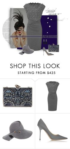 """""""Blue Wonder Gray"""" by michelletheaflack ❤ liked on Polyvore featuring KOTUR, ESCADA, Eugenia Kim, Jimmy Choo, lacedress and polyvorecontest"""