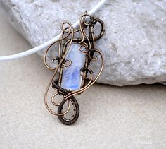 Moonstone wire wrapped pendant - OOAK by IanirasArtifacts.deviantart.com on @deviantART