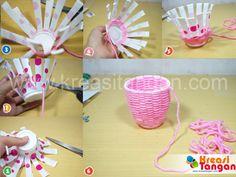 Membuat Kerajinan Tangan Dari Gelas Plastik