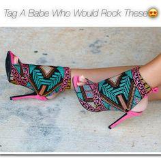 Would you wear? https://www.myshoebazar.com/shoes/bootie-licious-multi-print-peep-toe-bootie-heels/