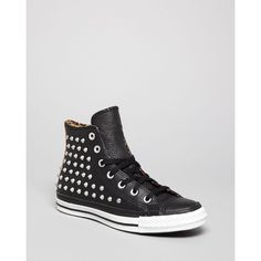 Converse All Star Sneakers - High Top Leather ($120) ❤ liked on Polyvore