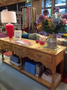 Titchmarsh and Goodwin console on cotton tree interiors stand at Suffolk show 2014