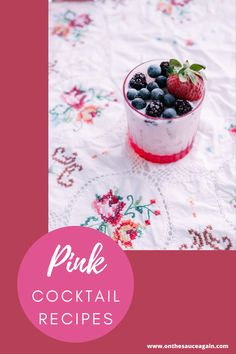 Cocktail And Mocktail, Pink Cocktails, Frozen Cocktails, Fancy Drinks, Smoothie Bowl, Smoothie Recipes, Smoothies, Best Cocktail Recipes, Thermomix