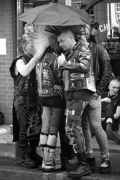 Keeping The Hair Dry - when you spend as long on your hair as these guys did, and few things look as bad as a melted Mohawk