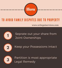 When #Property is the main reason for family #disputes  #legaladvice #lawfirm #nrilegalservices #nrilawyer