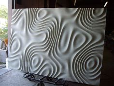 Describe this force field type pattern please - Grasshopper - McNeel Forum Textured Wall Panels, Decorative Wall Panels, 3d Wall Panels, Wood Sculpture, Wall Sculptures, Plywood Art, Cnc Wood, Digital Fabrication, Textures Patterns