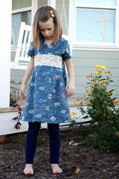 crozette: Oliver + S Library Dress in Wildwood