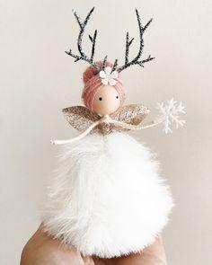 Fairy Crafts, Angel Crafts, Doll Crafts, Felt Fairy, Baby Fairy, Christmas Fairy, Christmas Crafts, Christmas Ornaments, Ballerina Ornaments
