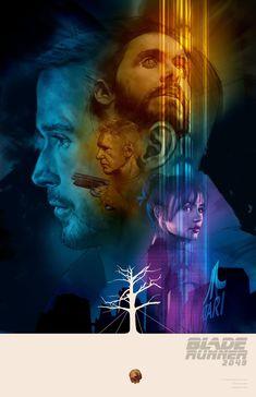 Blade Runner 2049 alternative poster by Ben Oliver Blade Runner Poster, Blade Runner Art, Blade Runner 2049, Ben Oliver, Denis Villeneuve, Sci Fi Films, Pop Culture Art, Cyberpunk Art, Cyberpunk Fashion