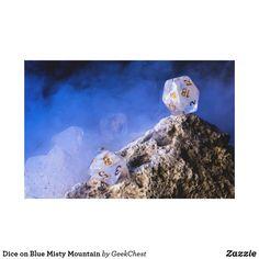 Dice on Blue Misty Mountain Canvas Print