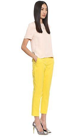Yellow trousers crush
