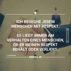...Respekt ist alles!!!