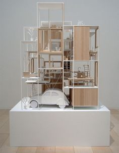 A model of the House NA designed by Sou Fujimoto architects.