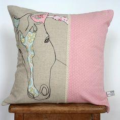 appliqued horse cushion Main Image