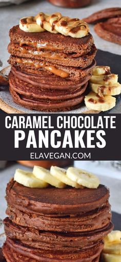 Vegan Breakfast Recipes, Delicious Vegan Recipes, Gluten Free Recipes, Delicious Desserts, Vegan Meals, Vegan Food, Chocolate Pancakes, Chocolate Desserts, Köstliche Desserts