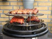 spare-ribs Cobb Cooker, Cobb Bbq, Weber Barbecue, Spare Ribs, Grill Pan, Grilling, Camping, Campsite, Weber Bbq