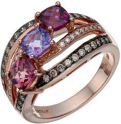 Le Vian Chocolatier Le Vian 14ct Strawberry Gold gemstone & #diamond ring