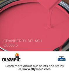 CRANBERRY SPLASH OL603.5 is a part of the reds collection by Olympic® Paint.