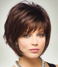 Chin Length with Bangs Short Bob Haircuts and Hairstyle