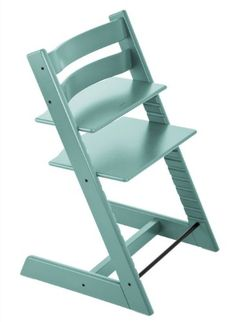 "Stokke Tripp Trapp Highchair – Aqua Blue   Stokke Tripp Trapp Highchair - Aqua Blue   Stokke Tripp Trapp Chair - Aqua Blue   The chair that grows with the child  Not only does Tripp Trapp grow with your child, it can be adjusted to custom fit your child's body through its unique depth and height adjustable seat and foot plate. This enables comfortable and correct ergonomic seating for children of any age.   Product Weight:  17 lbs   Product Dimensions:  32.5"" x 21"" x4.2""   http://w.."