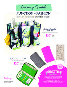 January 2015 Specials! Check out https://www.mythirtyone.com/626183 to browse or place an order!