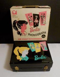 1962 RARE Barbie Vanity Fair Record Player w Original Box Price Tag This Is RARE | eBay