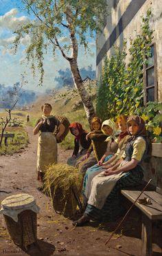 Hans Dahl (1849–1937): En pause i slåtten