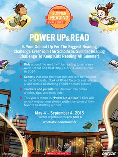 Is your school up for the biggest Summer Reading Challenge EVER? Print and hang this poster in your school to get students excited for the 2015 Scholastic Summer Reading Challenge #summerreading