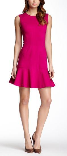 Hot Pink Diane von Furstenberg Dress.  Perfect for Valentines Day!