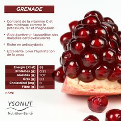 C'est la saison de la #grenade, un fruit excellent pour la santé à la saveur sucrée qui se marie à la perfection avec beaucoup de plats. Connaissez-vous toutes leurs vertus #santé ?