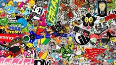 OMG Sticker Bomb HD Wallpaper 1080p Resolution by Micah Robertson - SUPER COOL
