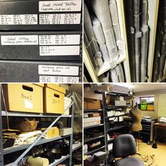 Behind-the-scenes at Gibson House Museum! Their Collections Storage is neatly…