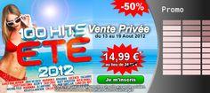 Du 13 au 19 Août 2012, 100 Tubes Incontournables sont prix cadeau ! Retrouvez CARLY RAE JEPSEN, MATT HOUSTON, GUSTTAVO LIMA, TACABRO, NICKI MINAJ, MICHEL TELO et bien d'autres sur LA compilation de tous les Hits 2012 en Vente Privée au prix incroyable de : 14.99 € au lieu de 24.99 €. Profitez-en sur Starzik !