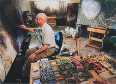 William Robinson in his studio, Brisbane, 2005. Photo: Carl Warner.