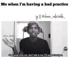OMG @Danielley100  this is so me! Like every practice