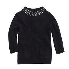 J.Crew - Girls' sparkle-collar sweater
